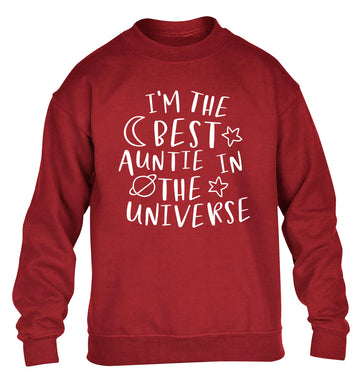 I'm the best auntie in the universe children's grey sweater 12-13 Years