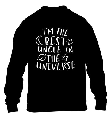 I'm the best uncle in the universe children's black sweater 12-13 Years