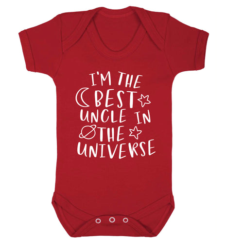 I'm the best uncle in the universe Baby Vest red 18-24 months