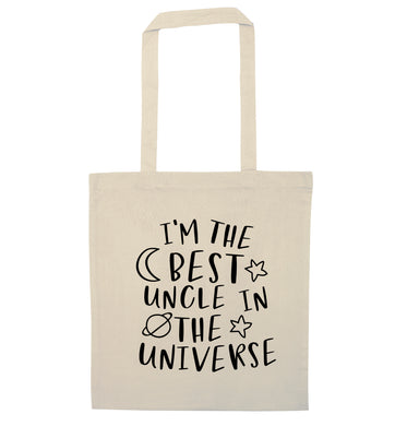I'm the best uncle in the universe natural tote bag