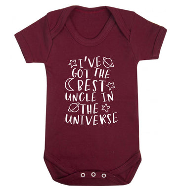 I've got the best uncle in the universe Baby Vest maroon 18-24 months