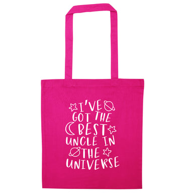 I've got the best uncle in the universe pink tote bag