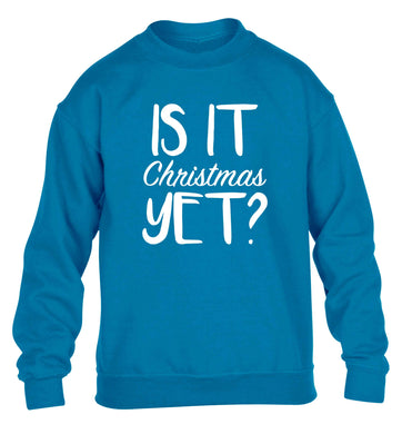 Is it Christmas yet? children's blue sweater 12-13 Years