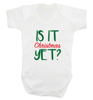 Is it Christmas yet? baby vest white 18-24 months