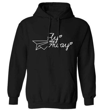 Fly away adults unisex black hoodie 2XL