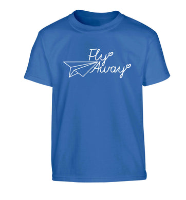 Fly away Children's blue Tshirt 12-13 Years