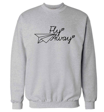 Fly away Adult's unisex grey Sweater 2XL