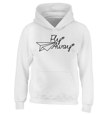 Fly away children's white hoodie 12-13 Years