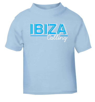 Ibiza calling light blue Baby Toddler Tshirt 2 Years
