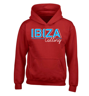 Ibiza calling children's red hoodie 12-13 Years