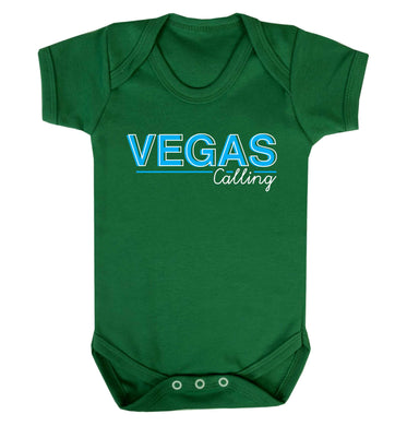 Vegas calling Baby Vest green 18-24 months