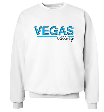 Vegas calling Adult's unisex white Sweater 2XL