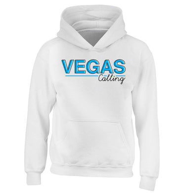 Vegas calling children's white hoodie 12-13 Years