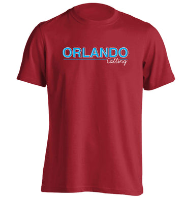 Orlando calling adults unisex red Tshirt 2XL