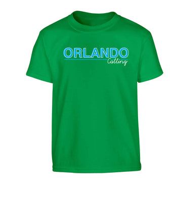 Orlando calling Children's green Tshirt 12-13 Years