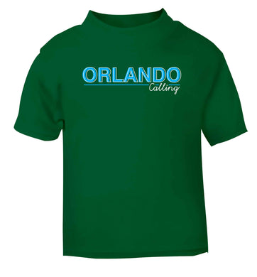 Orlando calling green Baby Toddler Tshirt 2 Years