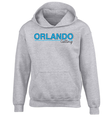 Orlando calling children's grey hoodie 12-13 Years