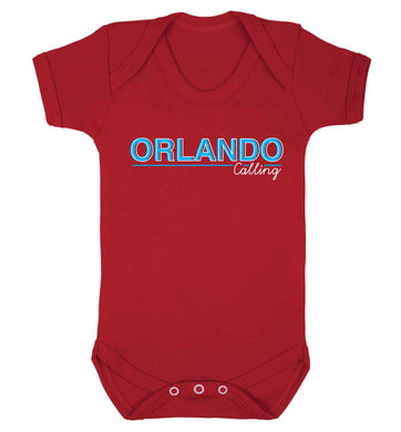 Orlando calling Baby Vest red 18-24 months