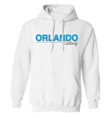Orlando calling adults unisex white hoodie 2XL