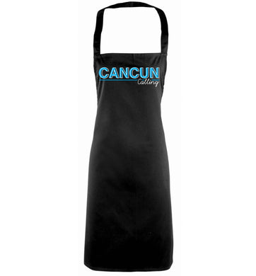 Cancun calling black apron