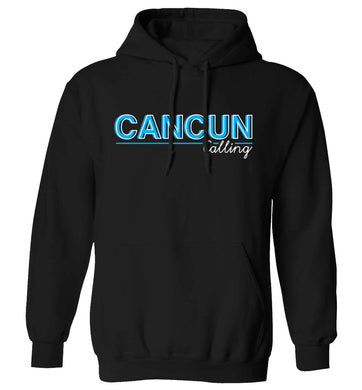 Cancun calling adults unisex black hoodie 2XL