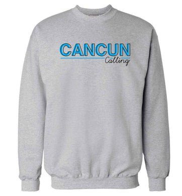 Cancun calling Adult's unisex grey Sweater 2XL