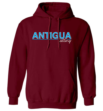Antigua calling adults unisex maroon hoodie 2XL