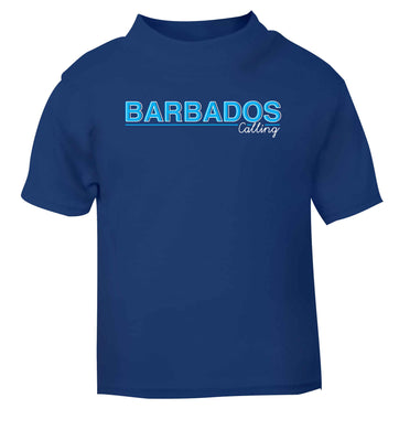 Barbados calling blue Baby Toddler Tshirt 2 Years