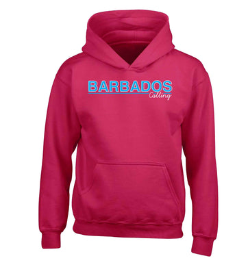 Barbados calling children's pink hoodie 12-13 Years
