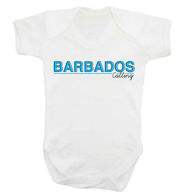 Barbados calling Baby Vest white 18-24 months