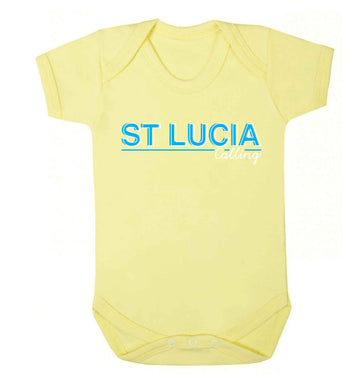 St Lucia calling Baby Vest pale yellow 18-24 months