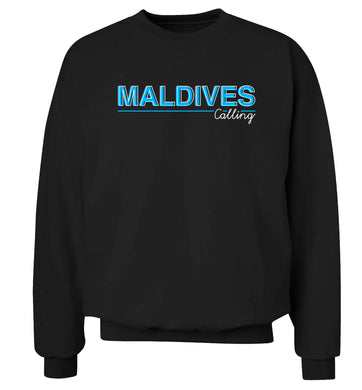 Maldives calling Adult's unisex black Sweater 2XL