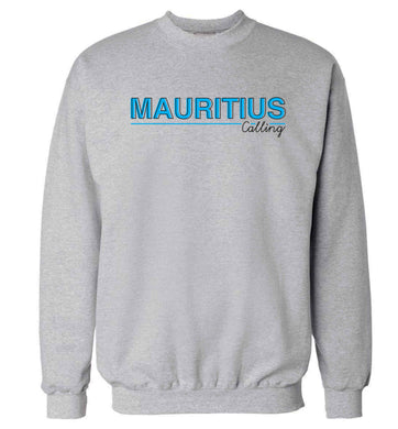 Mauritius calling Adult's unisex grey Sweater 2XL