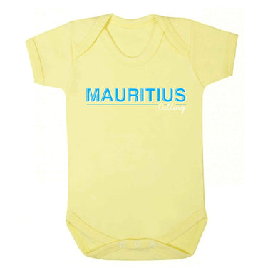 Mauritius calling Baby Vest pale yellow 18-24 months