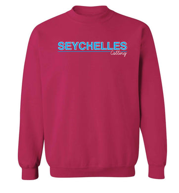 Seychelles calling Adult's unisex pink Sweater 2XL
