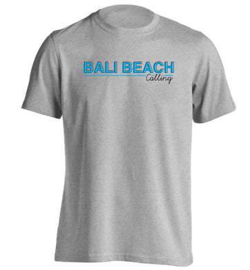 Bali beach calling adults unisex grey Tshirt 2XL