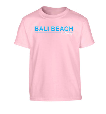 Bali beach calling Children's light pink Tshirt 12-13 Years