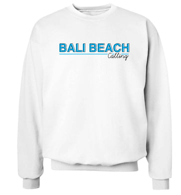 Bali beach calling Adult's unisex white Sweater 2XL