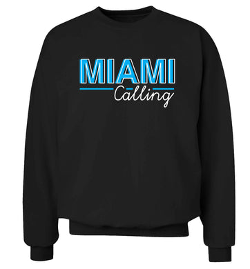 Miami calling Adult's unisex black Sweater 2XL