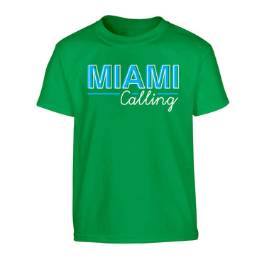 Miami calling Children's green Tshirt 12-13 Years
