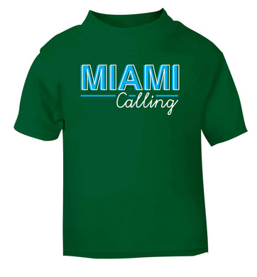 Miami calling green Baby Toddler Tshirt 2 Years
