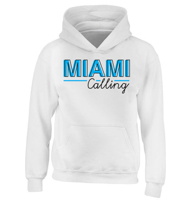 Miami calling children's white hoodie 12-13 Years