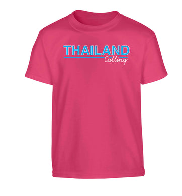 Thailand calling Children's pink Tshirt 12-13 Years
