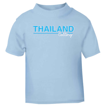 Thailand calling light blue Baby Toddler Tshirt 2 Years