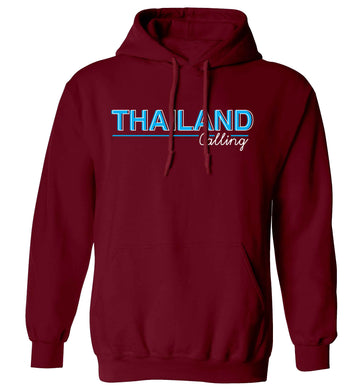 Thailand calling adults unisex maroon hoodie 2XL