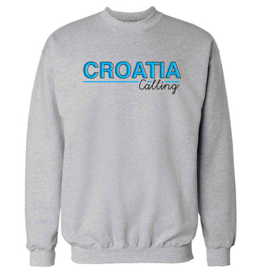 Croatia calling Adult's unisex grey Sweater 2XL