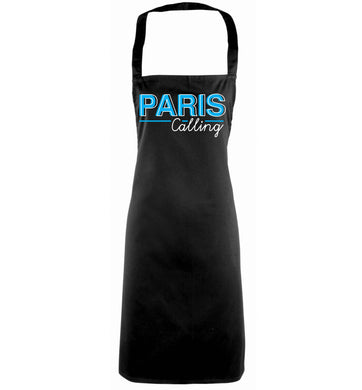 Paris calling black apron