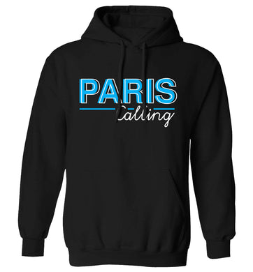 Paris calling adults unisex black hoodie 2XL