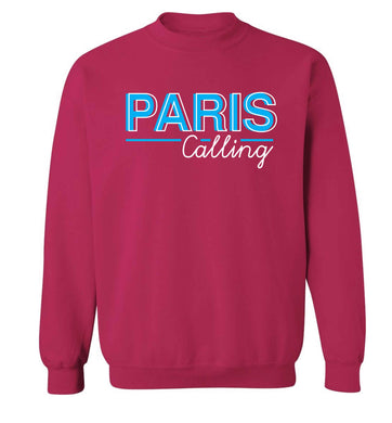 Paris calling Adult's unisex pink Sweater 2XL