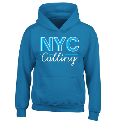 NYC calling children's blue hoodie 12-13 Years